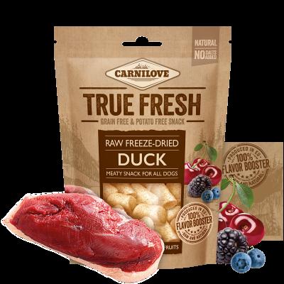 carnilove snack liofilizzati anatra e frutti rossi