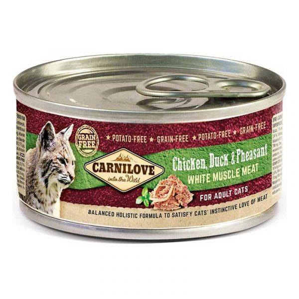 Carnilove umido gatto pollo anatra e fagiano 100 grammi