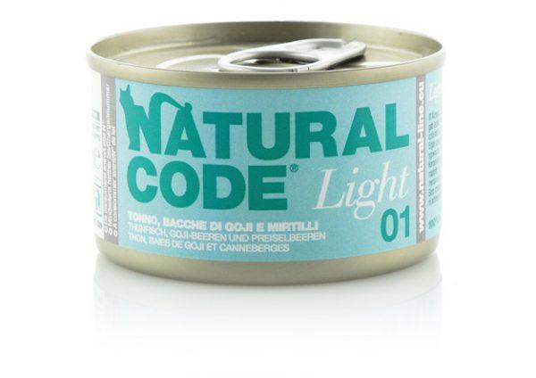 natural code light 01 tonno bacche di goji e mirtilli