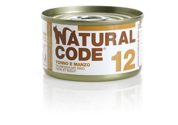 natural code 12 tonno e manzo