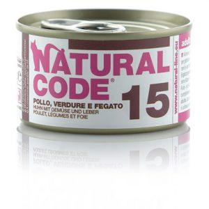 natural code 15 pollo verdure e fegato