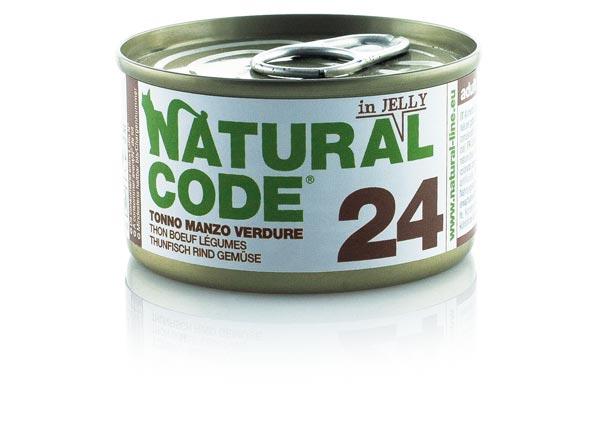 natural code 24 tonno manzo e verdure