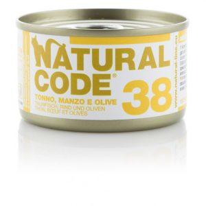 natural code 38 tonno manzo e olive