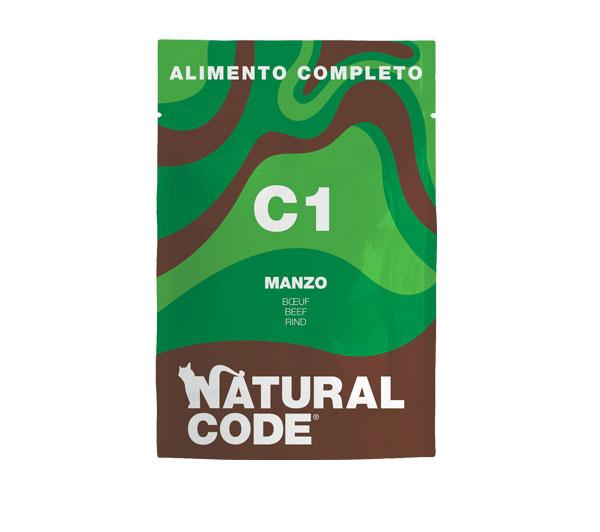 natural code c1 alimento umido completo per gatti