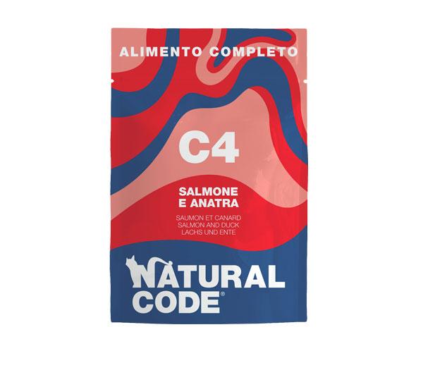 natural Code C4 alimento umido completo per gatti.